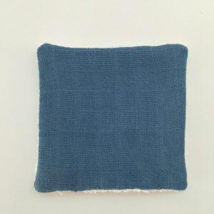 Coton lavable bleue